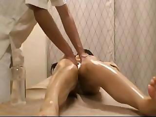 Asian gal learns all about massages and hard cocks in one