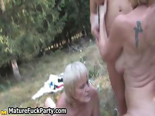 Young guy fucking three big part5