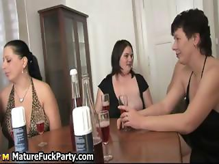 Pack of horny mature women loves abusing part3