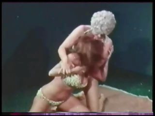 Candy Samples wrestling Uschi Digard.