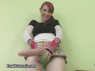 Nasty redhead babe taking her clothes part5