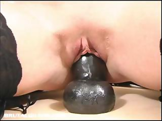 Sabrina riding a thick dildo