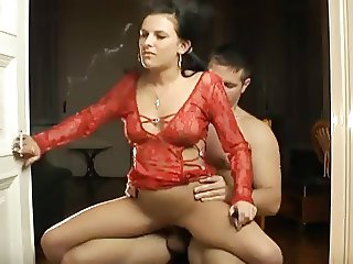 Hot Babe Smoking and Riding