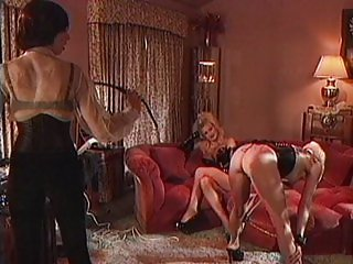 Blond slave fetish dominating with toys