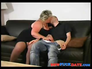 Papa bbw drenched by hot jizz shower 1