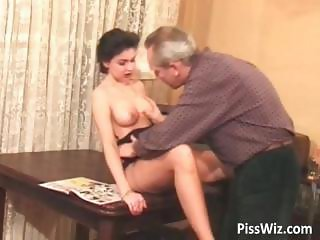Horny brunette gets that pierced pussy part2