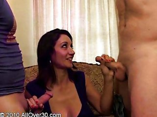 Persia Monir - Housewife fucked by two worker