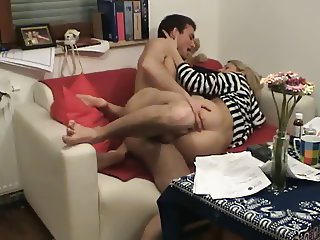 Horny Slut cheating wife riding lover's cock on hidden cam-2