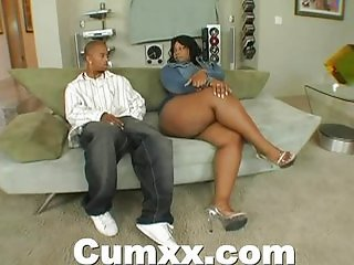Chunky Ass Ebony Making Out With Vibrator And