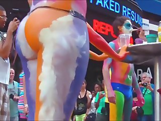 Sexy Naked  Body Paint  Part  3