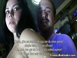 Dirty brunette bitch gets her tits part5