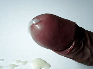 Shemale Uncut Cock - No Hands Cumshot 4