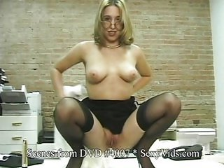 Solo Babe does Spreads in Gym & as Secretary