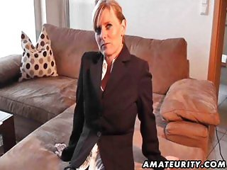 Hot amateur Milf sucks and fucks with cumshot