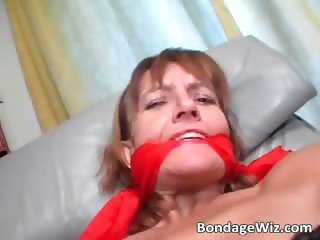 Tied up slut gets badly drilled in her part3