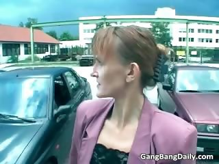 Skinny milf loves to be banged by many part3