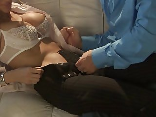 Hot Jessica D likes to finger her ass when getting fucked
