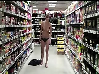 she gets naked in supermarket hahaha