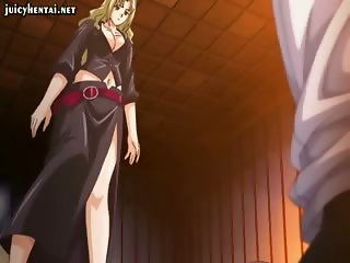 Anime gets screwed by a large dick
