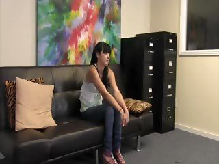 Very hot Mandy Skyes first anal casting