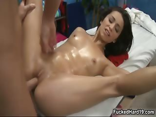 Hot brunette babe gets her pussy fucked part3