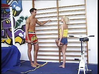 German Sport Teacher fucks blonde Schoolgirl anal