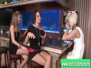 Drunk girls Jodie Kate and Ann Nude in a Bar