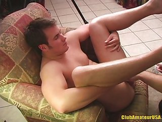 Straight guy gets rimmed
