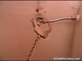 Solo BDSM play where blonde girl part3