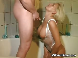 Bathroom anal sex with hot and wet part1