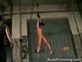 Sun Tanned foxy getting bondage slapping part1