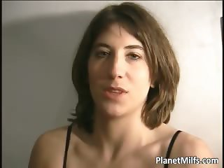 Nice looking milf got her hairy pussy part6