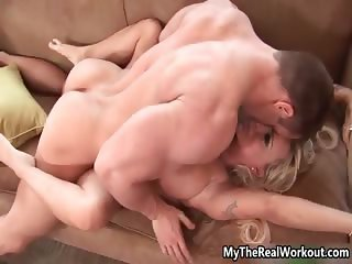 Busty blonde whore goes crazy getting part5