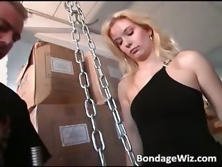 Hot busty blonde sucks on guy hard dick part6