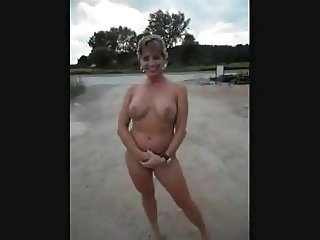 Mature milf having fun naked