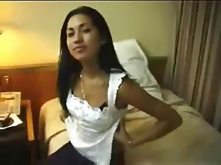 Cute Amateur Indian College Teen Cream Pie