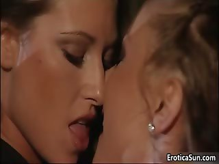 Two amazing brunette lesbian babes part6