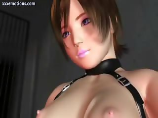 Teen animated blonde tasting a dick