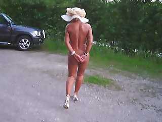 German mom naked in public