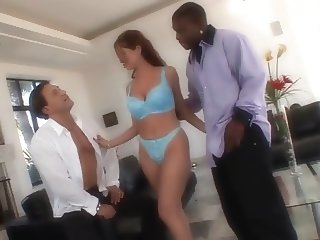 Threesome with a hot wife