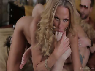 Busty Wife Shares A Hot Slut With Her Husband