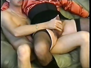 Red satin Blouse Sex