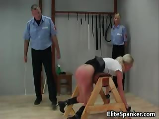 Poor blond babe gets her beautiful ass part5