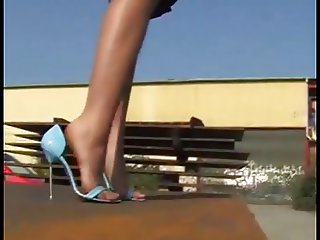OUTDOOR NYLONS AND HIGH HEELS