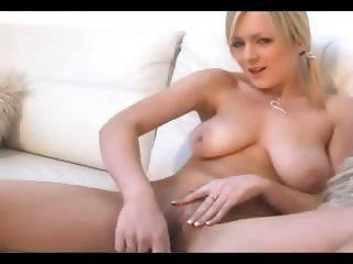 Sporty girl working with huge dildo