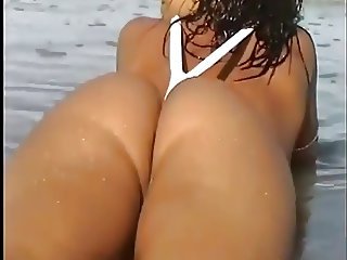 Hot Chick with Bubble Butt on the beach