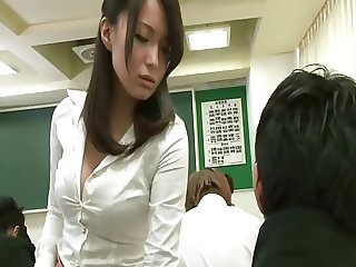 remote vibrator under teacher skirt