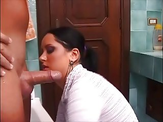 hot brunette gets good anal after superb blowjob