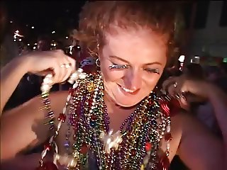 Older women gets butt naked at Mardi Gras