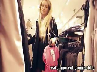 Slim hottie fucked inside dressing room